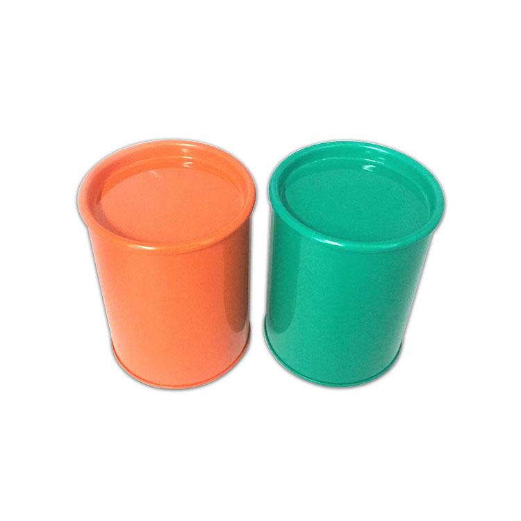 高款凹盖圆罐